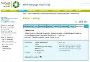 Erkenning door Nederlands Jeugd Instituut