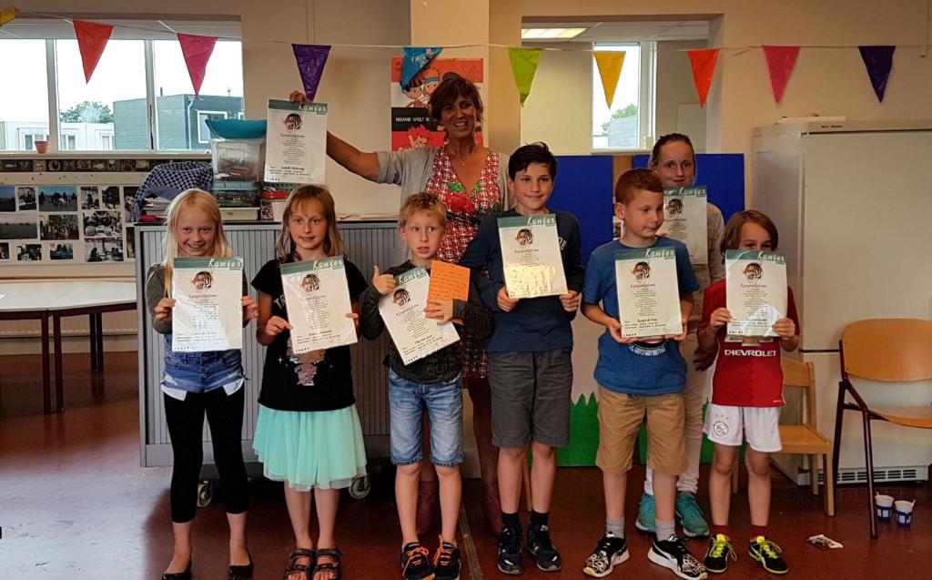 8 kinderen hebben op 29 juni 2017 hun Kanjerdiploma behaald in Haarlem - Noord (groep 77)