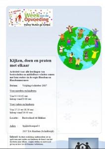 Flyer Workshops Week van de Opvoeding regio Haarlem/Haarlemmermeer