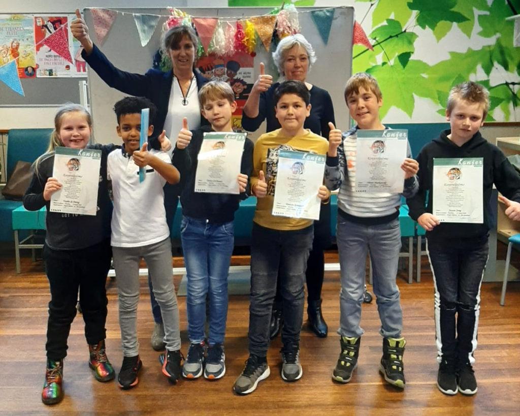 Kanjers zijn blij met hun Kanjerdiploma, behaald op 11 maart 2020 in Haarlem!